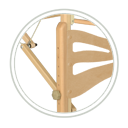 masazne-lehatko-drevene-habys-konstrukcia