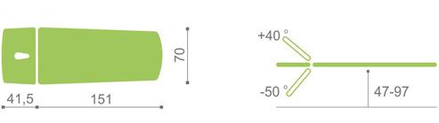 elektricke lehatko habys optima V2 polohovanie-2